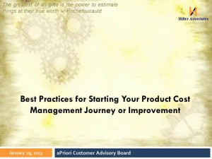 Best Practices for Product Cost Management Hiller Associates