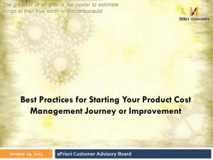 Best Practices for Product Cost Management Hiller Associates