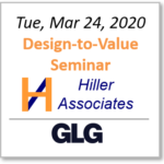 Eric Hiller of Hiller Associates to give 1-hour Design-to-Value seminar Tuesday 3/24!